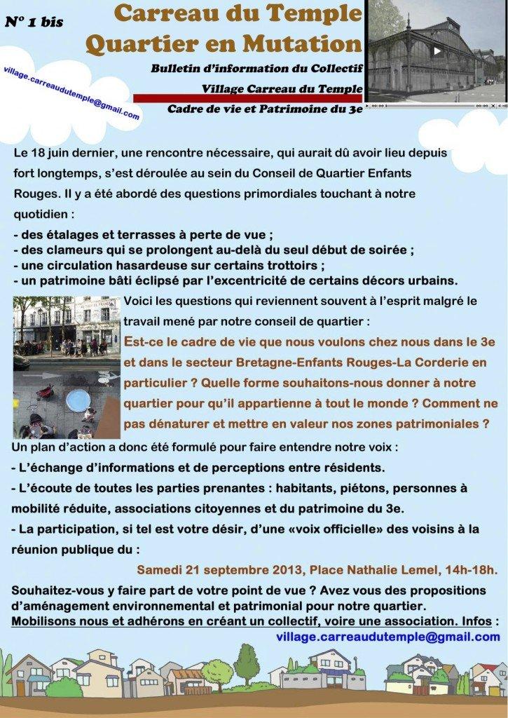 Bulletin N°1 Carreau du Temple Quartier en Mutation bulletin1_village_carreau_du_temple
